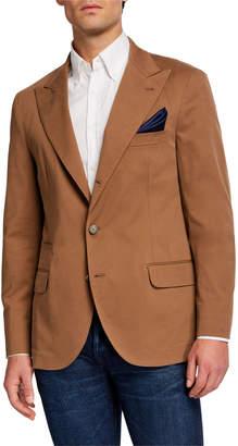 Brunello Cucinelli Men's Peak Lapel Cashmere-Blend Blazer