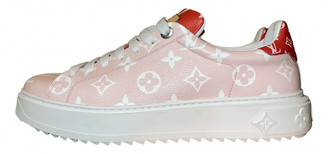Louis Vuitton TimeOut Pink Cloth Trainers