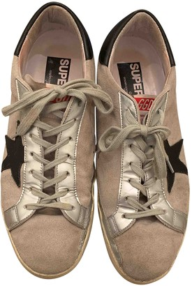 Golden Goose Superstar Beige Suede Trainers
