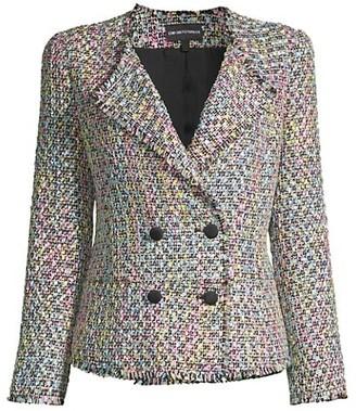 Emporio Armani Tweed Double-Breasted Blazer