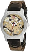 Wenger Field Classic 01.0441.107 Men's Brown Camo Nylon and Leather Watch