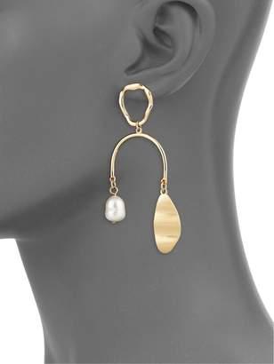Ava & Aiden Underwater Faux-Pearl Arch Earrings