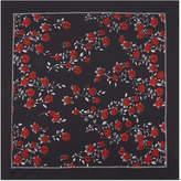 Sandro Rose print silk scarf