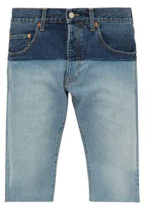 b2be19bc0d5 Vetements Panelled Denim Shorts - Mens - Blue