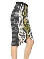 Peter Pilotto Printed Viscose Crepe Skirt