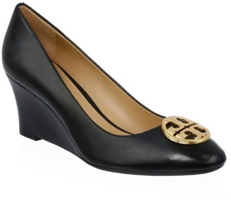 Tory Burch Chelsea Leather Wedge Pumps