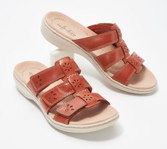 Clarks Collection Ivory Sole Slide Sandals - Leisa Spring