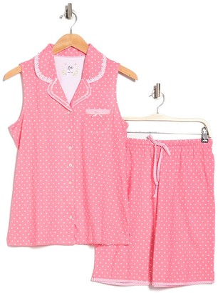 Aria Printed Jersey Tank & Bermuda Shorts Pajama Set