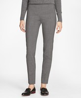 Brooks Brothers Slim-Fit Micro-Houndstooth Stretch-Wool Pants