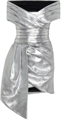 Alexandre Vauthier Metallic off-shoulder minidress