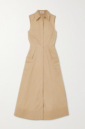 Co Cotton-poplin Midi Shirt Dress - Taupe