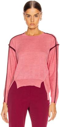 Stella McCartney Lightweight Sweater in Dark Pink | FWRD