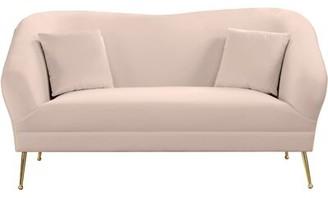 Everly Quinn Faizan Loveseat Upholstery Color: Pink