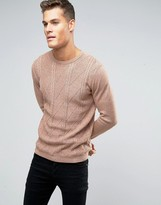 Asos Cable Sweater in Cotton
