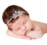 Melondipity Baby Hats Melondipity's Silver Crown Tiara Princess Headband Girl