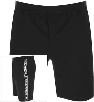 DSQUARED2 Logo Sweat Shorts Black