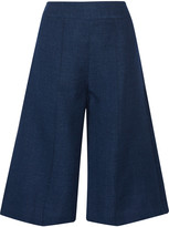 ADAM by Adam Lippes Linen and wool-blend chambray shorts