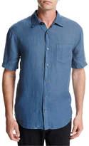 Vince Short-Sleeve Natural-Fit Linen Shirt
