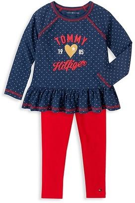 Tommy Hilfiger Baby Girl's 2-Piece Logo Tunic Leggings Set