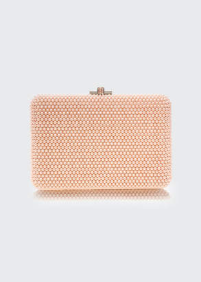 Judith Leiber Couture Slim Slide Pearly Evening Clutch Bag
