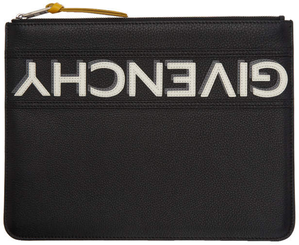 Givenchy Black Reverse Zip Pouch