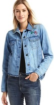 1969 Icon Raw Hem Embroidered Denim Jacket