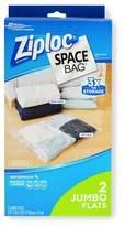 Space Bag Ziploc Space Bag, Jumbo Flats, 2ct