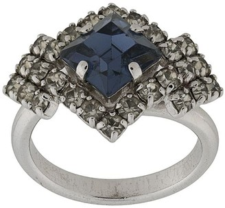 Christian Dior Pre-Owned Stone-Embellished Geometric Ring