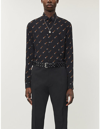 The Kooples Graphic-print relaxed-fit woven shirt