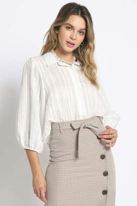 Sans Souci Sheer Striped Blouse