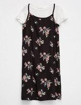 Full Tilt Floral Girls 2Fer Tee Dress