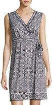 Max Studio Faux-Wrap Sleeveless Knit Dress
