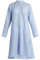 Palmer//harding Stand-collar Long-sleeved Striped Kaftan