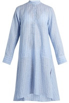 Palmer Harding PALMER//HARDING Stand-collar long-sleeved striped linen kaftan