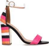 Miss KG Ebony panelled raffia sandals