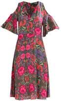 SET Summer dress khaki/red