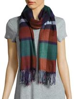 Fraas Plaid Patterned Fringed Scarf