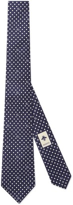 Gucci Polka dot and Double G tie