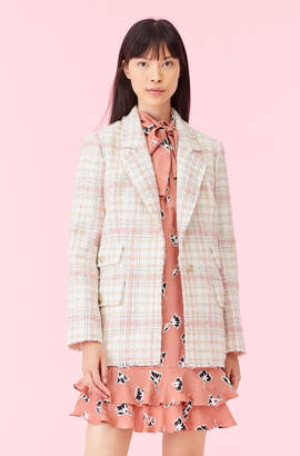 Rebecca Taylor Gabrielle Plaid Tweed Blazer