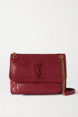 Saint Laurent Niki Medium Quilted Leather Shoulder Bag - Red
