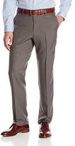 Haggar Men's Performance Micro Small Neat Fancy Straight-Fit Plain-Front Slack