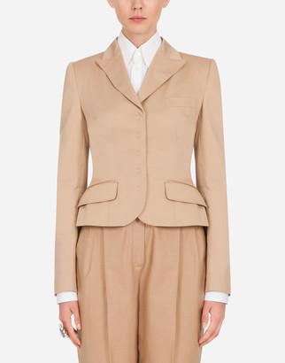 Dolce & Gabbana Single-Breasted Cotton Blazer