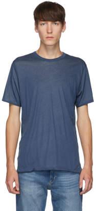 Rag & Bone Reversible Blue and Grey Short Sleeve T-Shirt