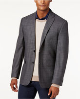 Vince Camuto Men's Slim Modern Fit Gray Windowpane Sport Coat