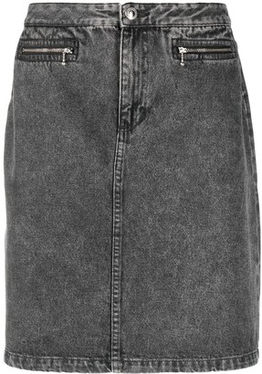 A.P.C. Faded Denim Skirt