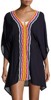 Nanette Lepore Peace Love Embroidered Caftan Coverup