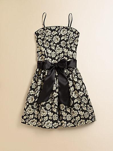 Un Deux Trois Girl's Jacquard Party Dress