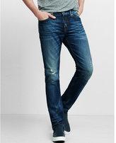 Express slim fit rocco distressed slim leg jean
