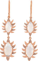 Meghna Jewels Marquise Claw Diamond Double Drop Earrings