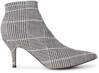 Nine West Black & White Pearce Stretch Ankle Booties